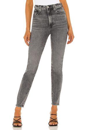 SLVRLAKE Beatnik High Rise Slim Jean in Grey.