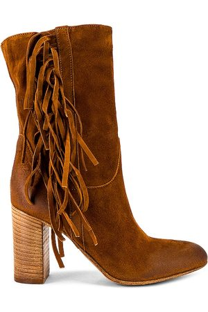 Free People Wild Rose Slouch Boots in Tan.
