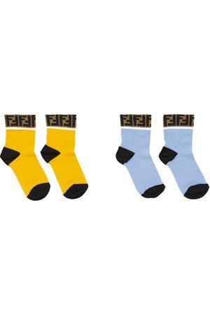 Fendi Set of 2 FF cotton-blend socks