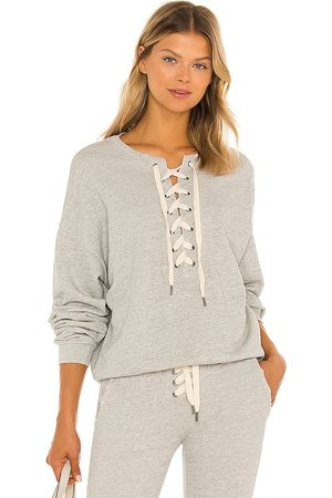 NSF Terry Lace Up Pullover in Grey.