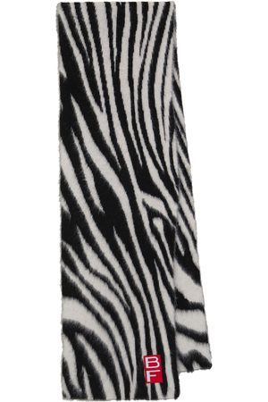 By Far Zebra-print alpaca-blend scarf