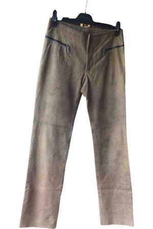 DIRK BIKKEMBERGS Leather trousers