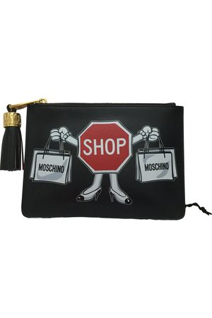 Moschino Women Clutches - Leather clutch bag