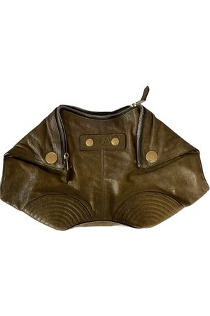 Alexander McQueen Women Clutches - Manta leather clutch bag
