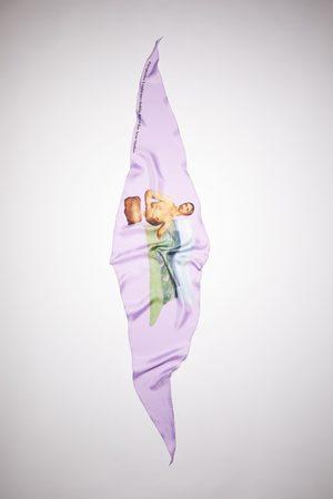 Acne Studios Scarves - FN-UX-SCAR000180 Printed silk scarf