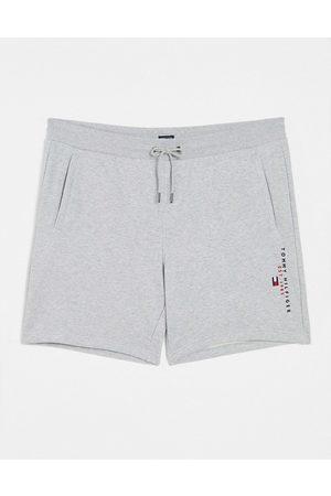 Tommy Hilfiger Flag logo essential sweat shorts in medium heather-Grey