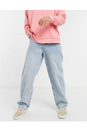 ASOS DESIGN Ultra baggy jeans in vintage light blue wash-Blues