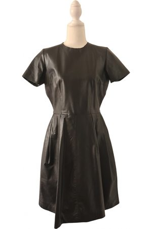 IRIS & INK Leather mid-length dress