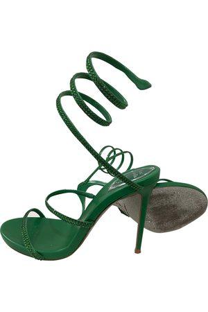 RENÉ CAOVILLA Leather sandal