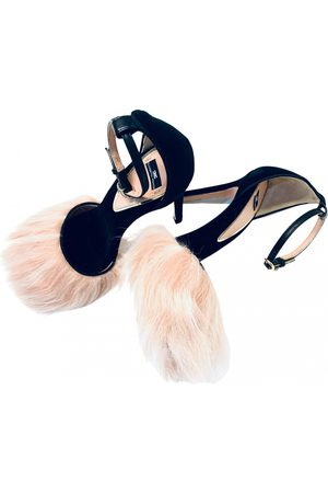 Elisabetta Franchi Velvet sandals