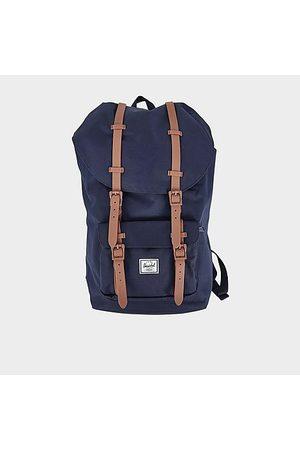 Herschel Men Rucksacks - Little America Backpack Leather/Fleece
