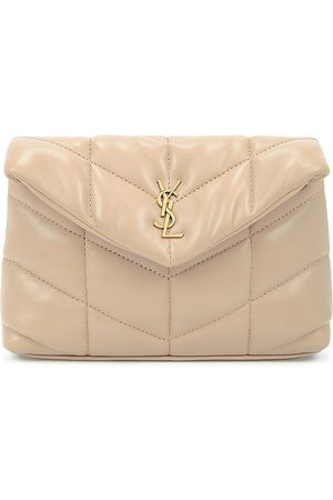 Saint Laurent Women Purses - Puffer taupe leather pouch