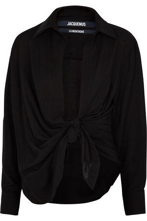 Jacquemus La Chemise Bahia draped shirt