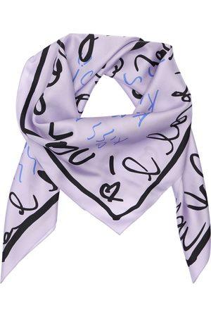AZ FACTORY Printed Silk Twill Scarf