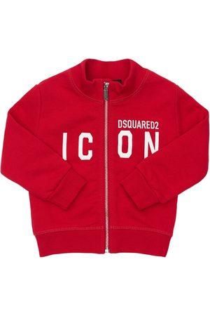 Dsquared2 Boys Sweatshirts - Icon Print Zip-up Cotton Sweatshirt