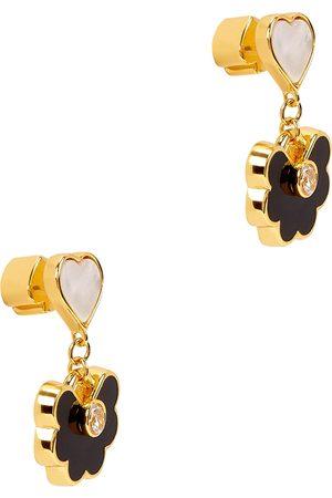 Kate Spade Women Earrings - Spade Flower gold-plated drop earrings