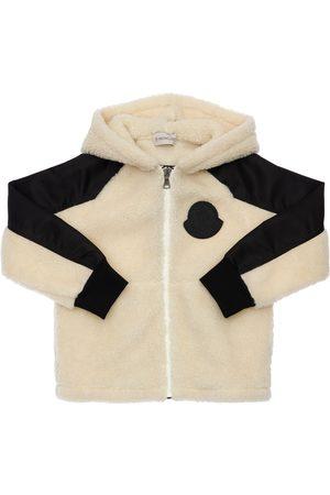 Moncler Logo Sherpa Sweatshirt Hoodie