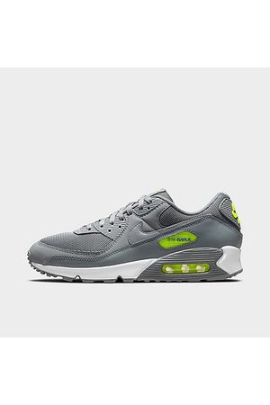 Nike Men Casual Shoes - Men's Air Max 90 Casual Shoes in Grey/Smoke Grey Size 7.5 Leather
