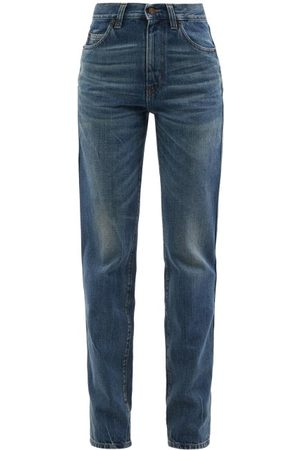 Saint Laurent Women High Waisted - 60s High-rise Straight-leg Jeans - Womens - Denim