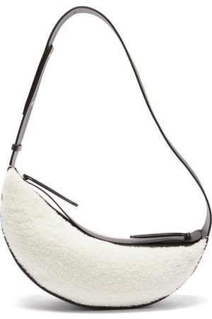 Neous Orion Shearling And Leather Cross-body Bag - Womens
