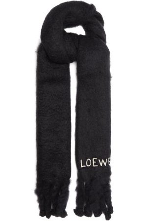 Loewe Women Scarves - Logo-embroidered Brushed Mohair-blend Scarf - Womens