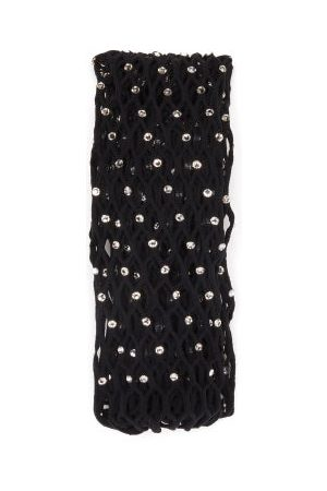 Wolford X Amina Muaddi Women Stockings - Crystal-embellished Fishnet Tights - Womens