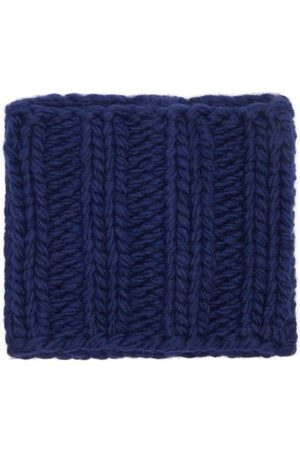 J.W.Anderson Women Scarves - Ribbed-knit Wool Snood - Womens - Navy