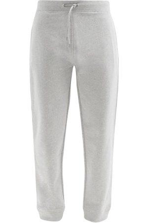 A.P.C. Item Logo-print Jersey Track Pants - Mens - Light Grey