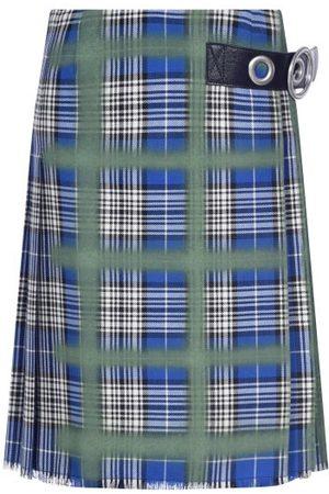 Marni Spray-paint Tartan Kilt Skirt - Womens