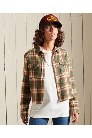 Superdry Women Shirts - Organic Cotton Heritage Check Cropped Shirt