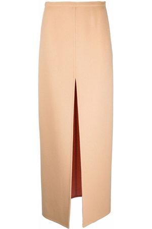 Emilio Pucci Double-faced split maxi skirt - Neutrals