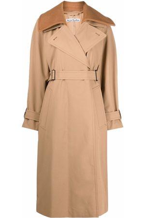 Acne Studios Women Trench Coats - Detachable-collar trench coat - Neutrals
