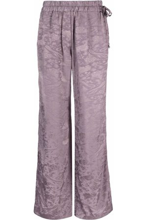 Acne Studios Women Wide Leg Pants - Jacquard wide-leg trousers