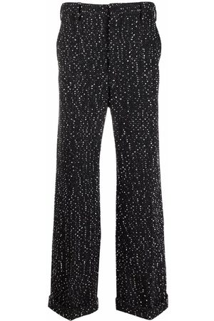 Marni Mélange wide-leg knitted trousers