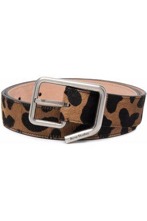 Acne Studios Leopard-print buckle belt