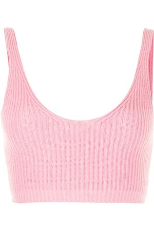 Cashmere In Love Women Tank Tops - Reese ribbed-knit cropped vest