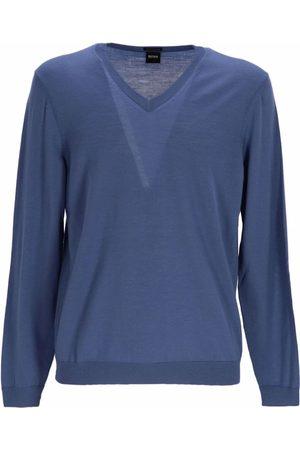 HUGO BOSS Men Sweatshirts - Fine knit virgin wool jumper