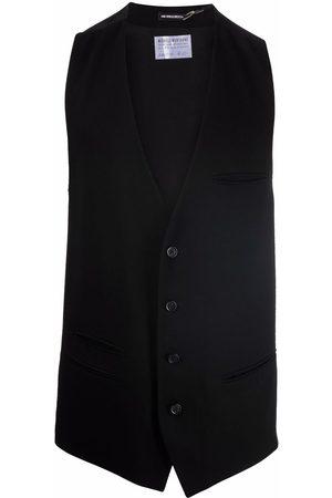 ANN DEMEULEMEESTER Men Waistcoats - Rear-buckled crepe waistcoat