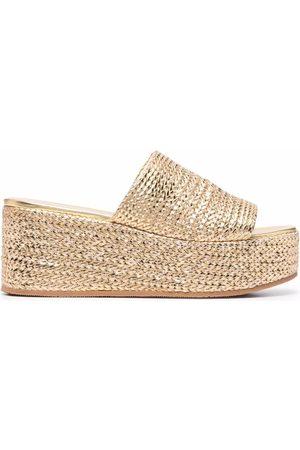 Casadei Women Wedges - Metallic wedge sandals