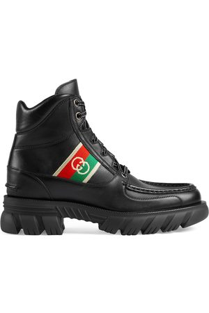 Gucci GG leather ankle boots