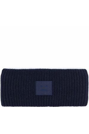 Acne Studios Face-patch ribbed knit headband