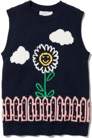 Stella McCartney Intarsia-garden knitted vest