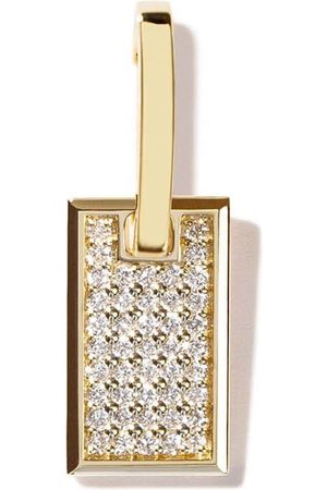 AS29 Women Earrings - 18kt yellow small Tag pave diamond earring