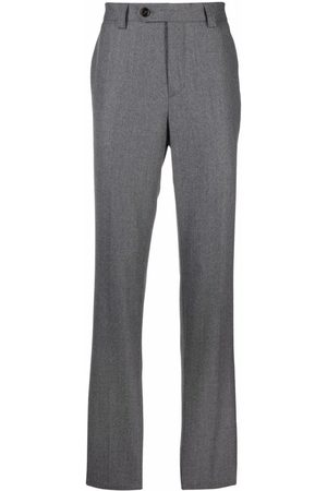 Brunello Cucinelli Men Skinny Pants - Mid-rise slim trousers - Grey
