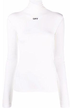 Off-White Logo-print rollneck shirt