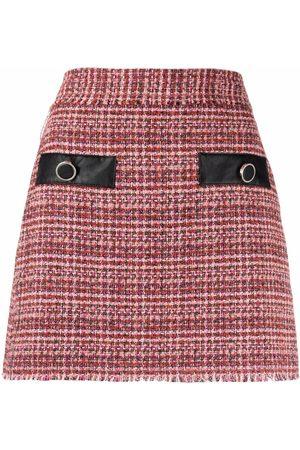 Pinko Women Mini Skirts - Bouclé high-waisted miniskirt
