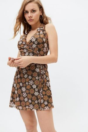 Urban Outfitters Women Party Dresses - UO Ken Collared Wrap Mini Dress