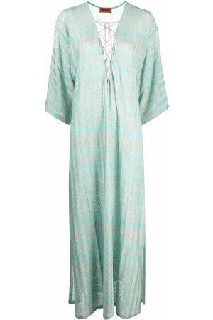 Missoni Women Beach Dresses - Zig-zag woven beach dress