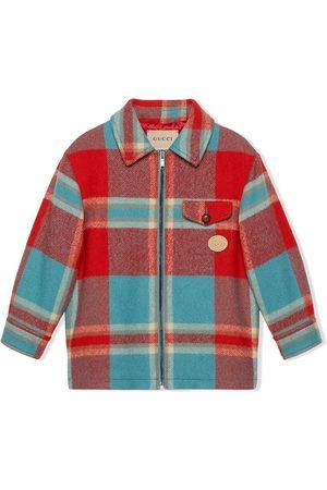 Gucci Check wool shirt jacket