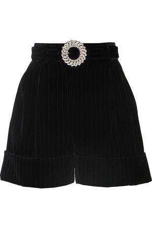 Miu Miu Women Bermudas - Velvet bermuda shorts